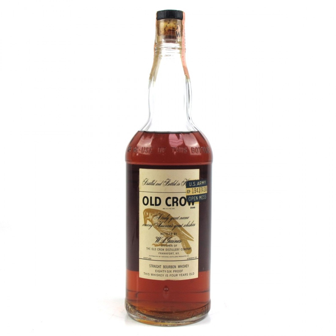 Old Crow 4 Year Old Bourbon 1960s