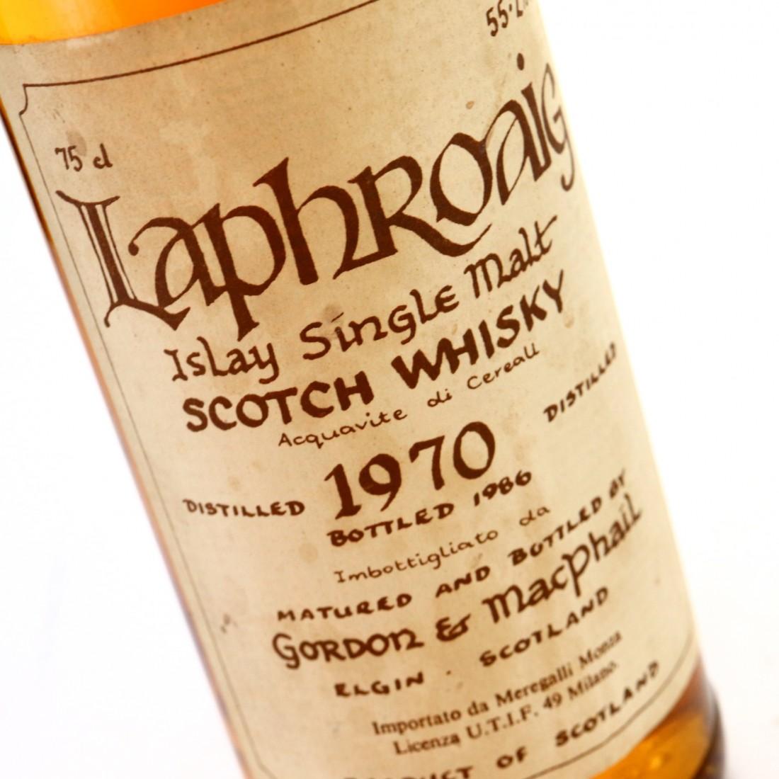 Laphroaig 1970 Gordon and MacPhail Cask Strength Celtic Label / Meregalli Import