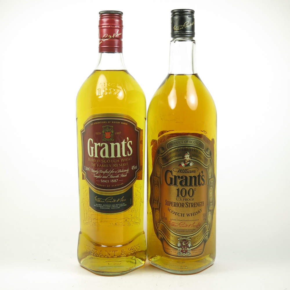 Grant's and Grant's 100 US Proof 2 x 1 Litre