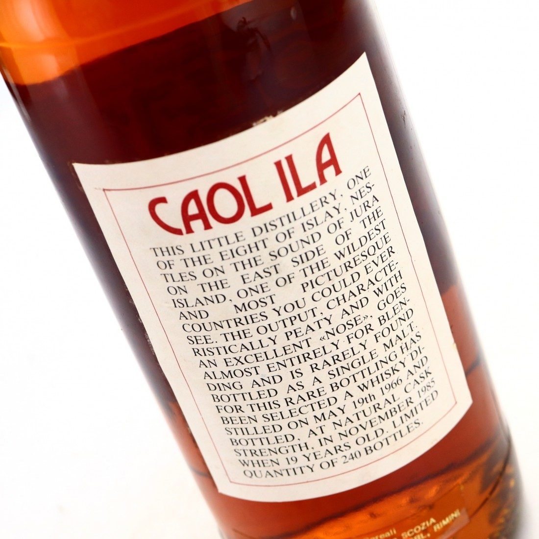 Caol Ila 1966 Intertrade 19 Year Old Cask Strength
