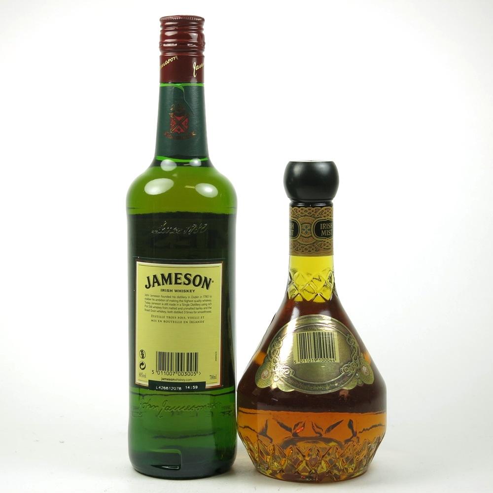 Jameson 70cl and Irsh Mist Liqueur 50cl