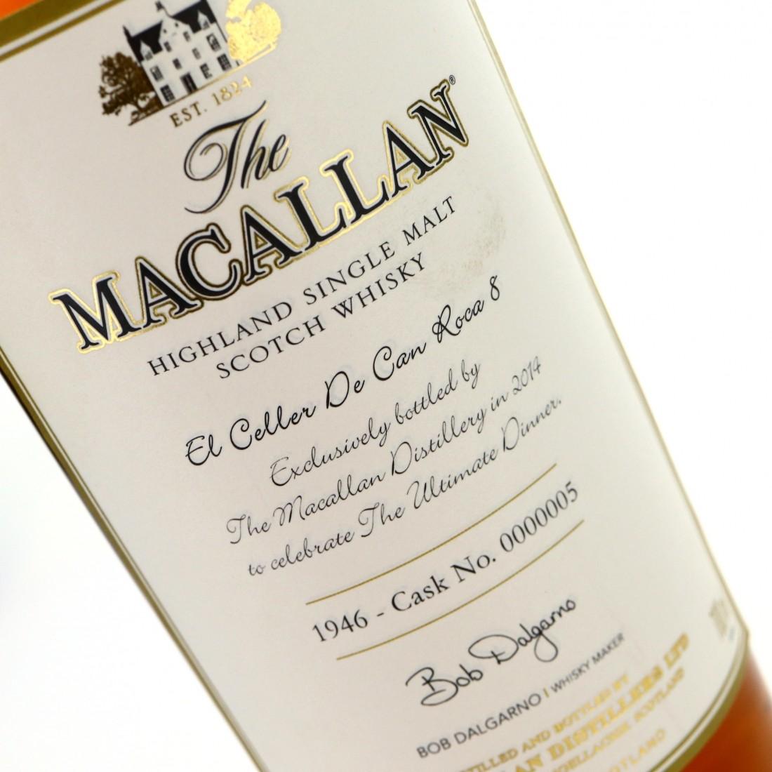 Macallan 1946 The Ultimate Dinner Single Cask #5 / El Celler de Can Roca 8