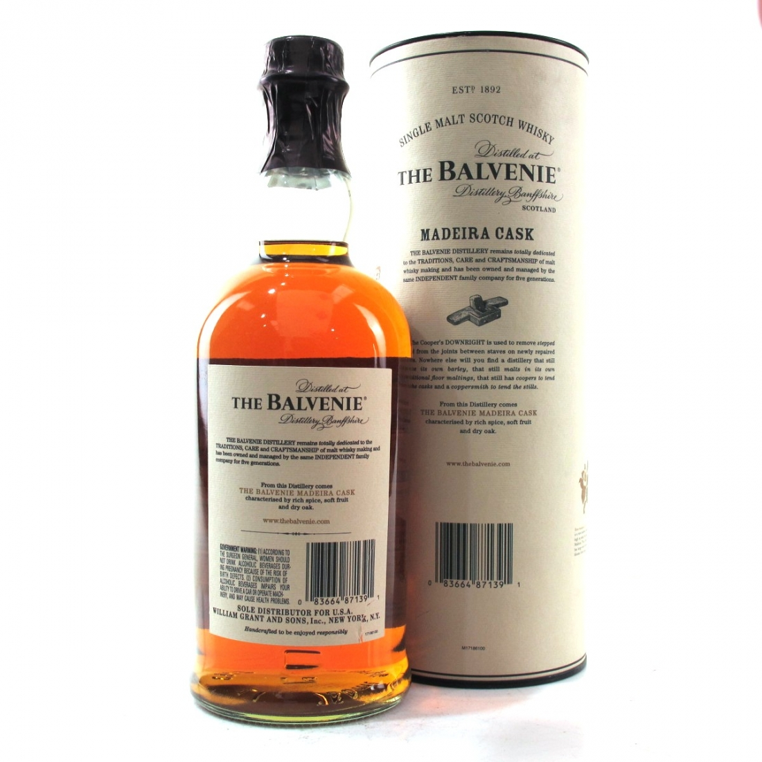 Balvenie 17 Year Old Madeira Wood Finish 75cl / US Import