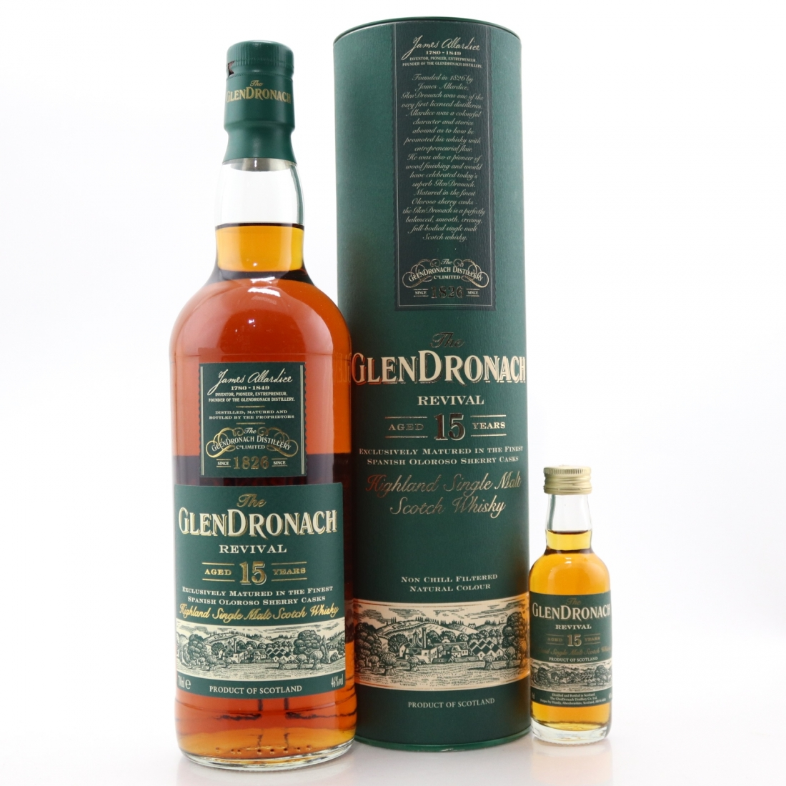 Glendronach 15 Year Old Revival with Miniature 5cl / Pre-2015