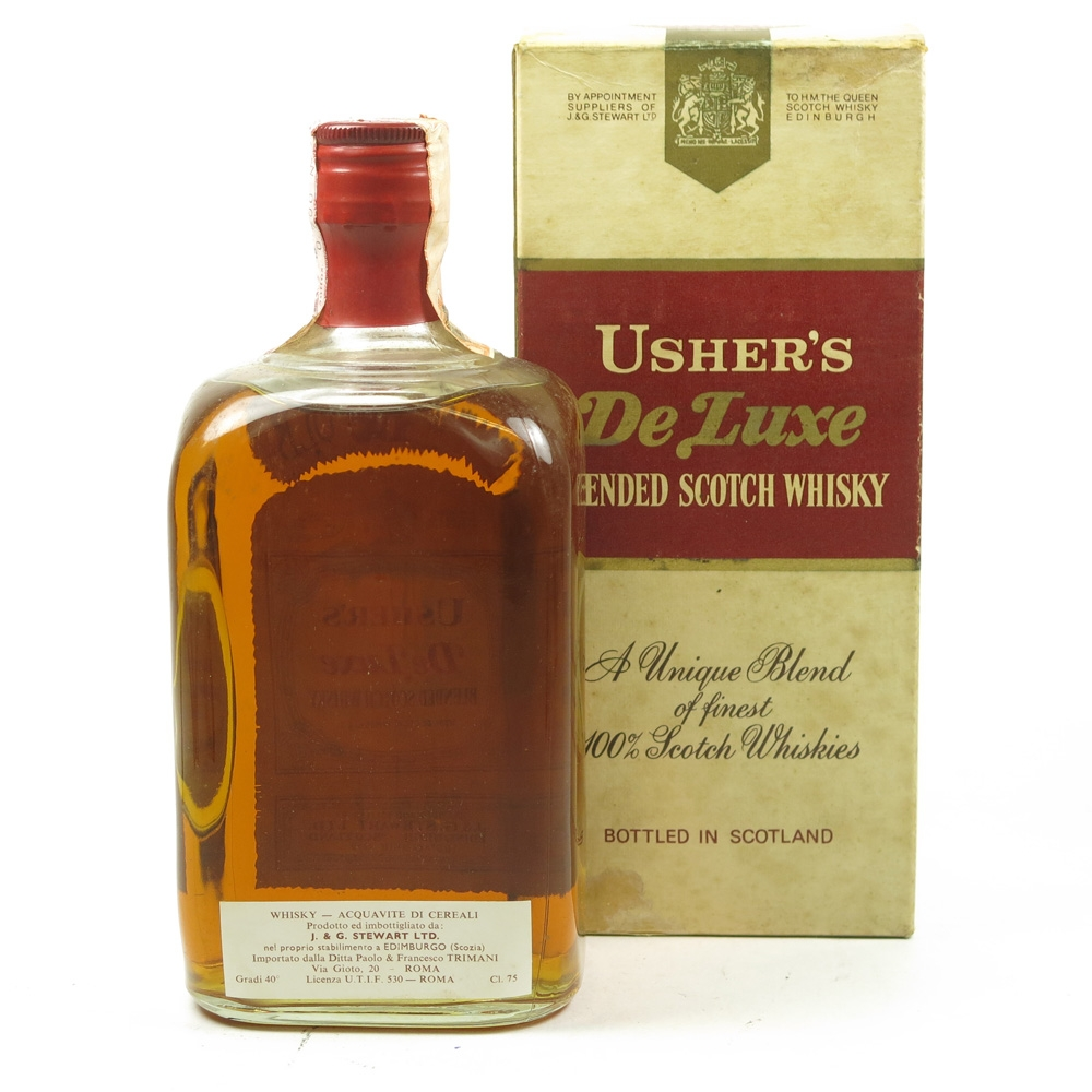 Usher's De Luxe 12 Year Old Blend 1970's