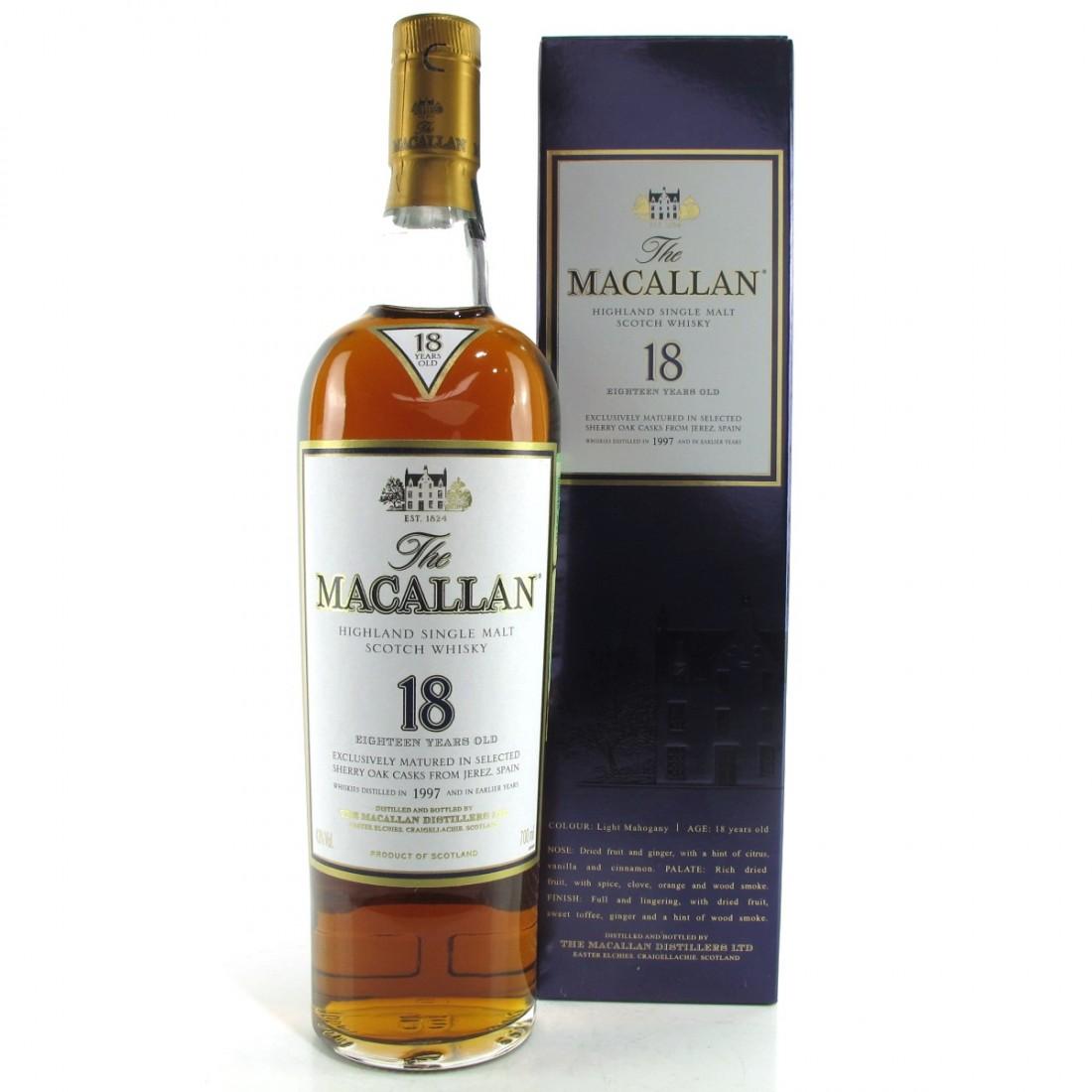 Macallan 1997 18 Year Old