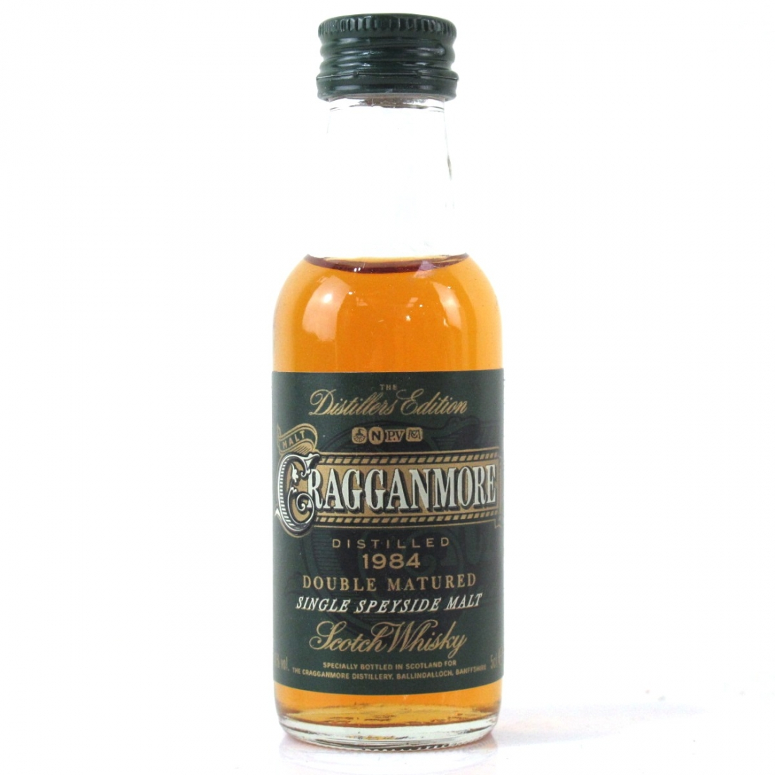 Cragganmore 1984 Distillers Edition Miniature 5cl / First Release