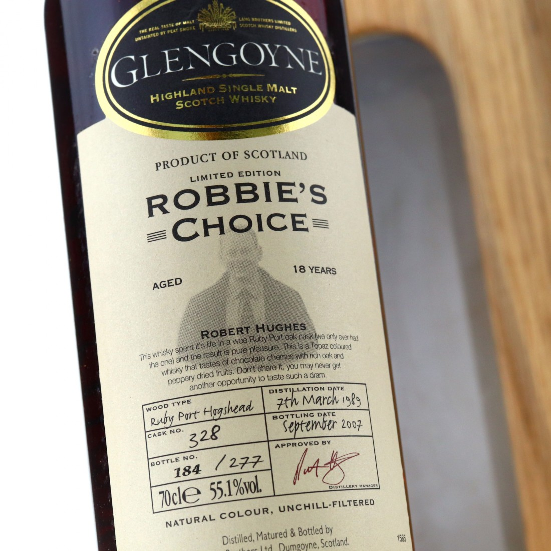 Glengoyne 1989 Robbie's Choice 18 Year Old