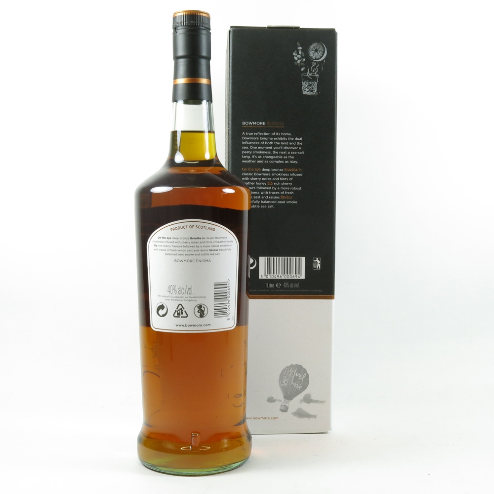 Bowmore 12 Year Old Enigma 1 Litre back