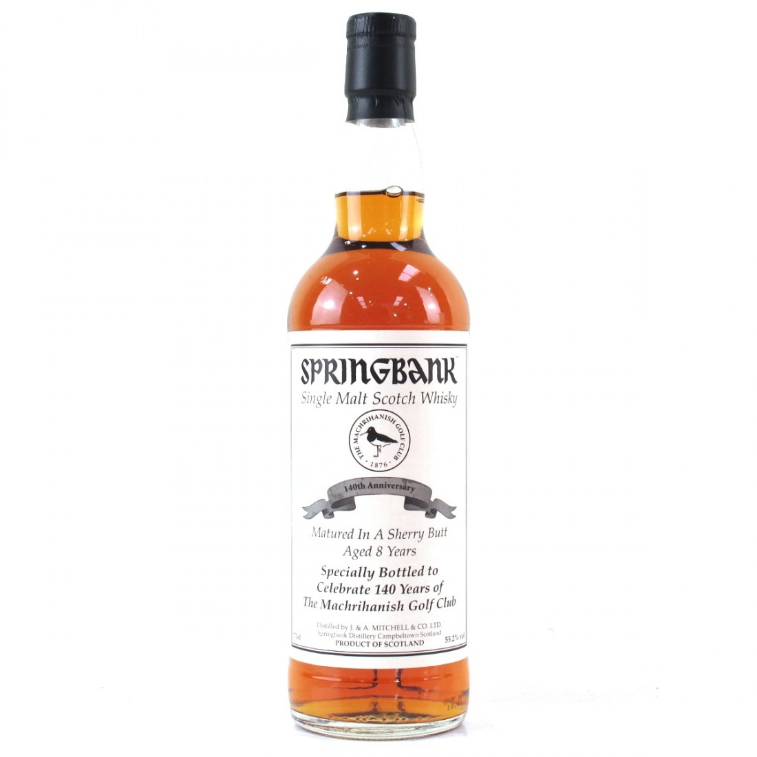 Springbank 8 Year Old Private Bottling / The Machrihanish Golf Club 140th Anniversary