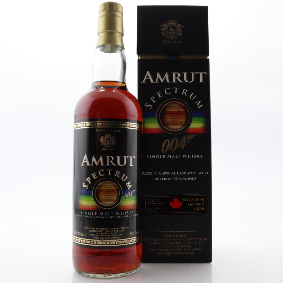 Amrut Spectrum 004 Single Cask / Canadian 150th Anniversary