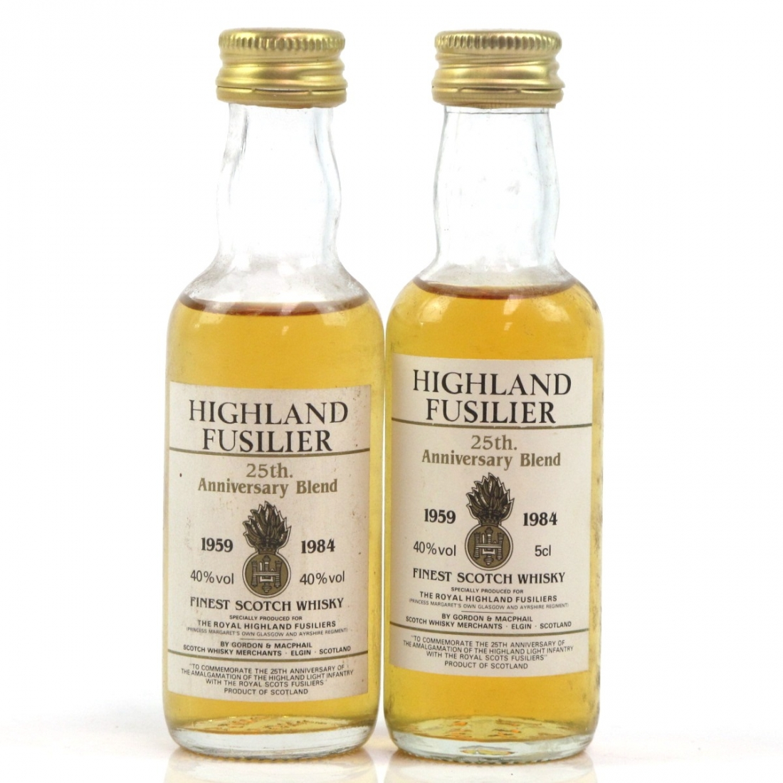 Highland Fusilier 25th Anniversary Blend 2 x 5cl