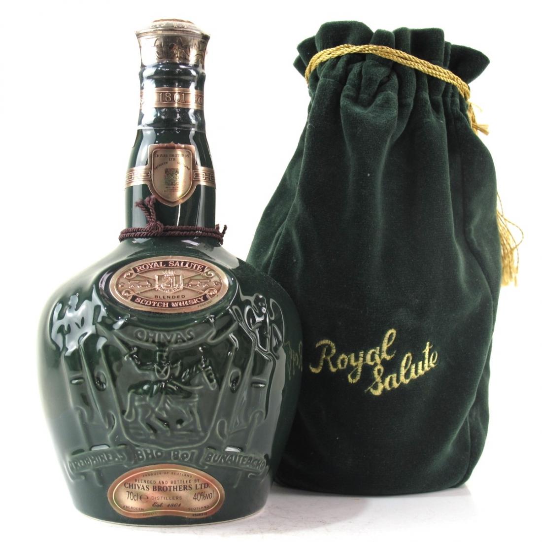 Chivas 21 Year Old Royal Salute / Emerald Flagon