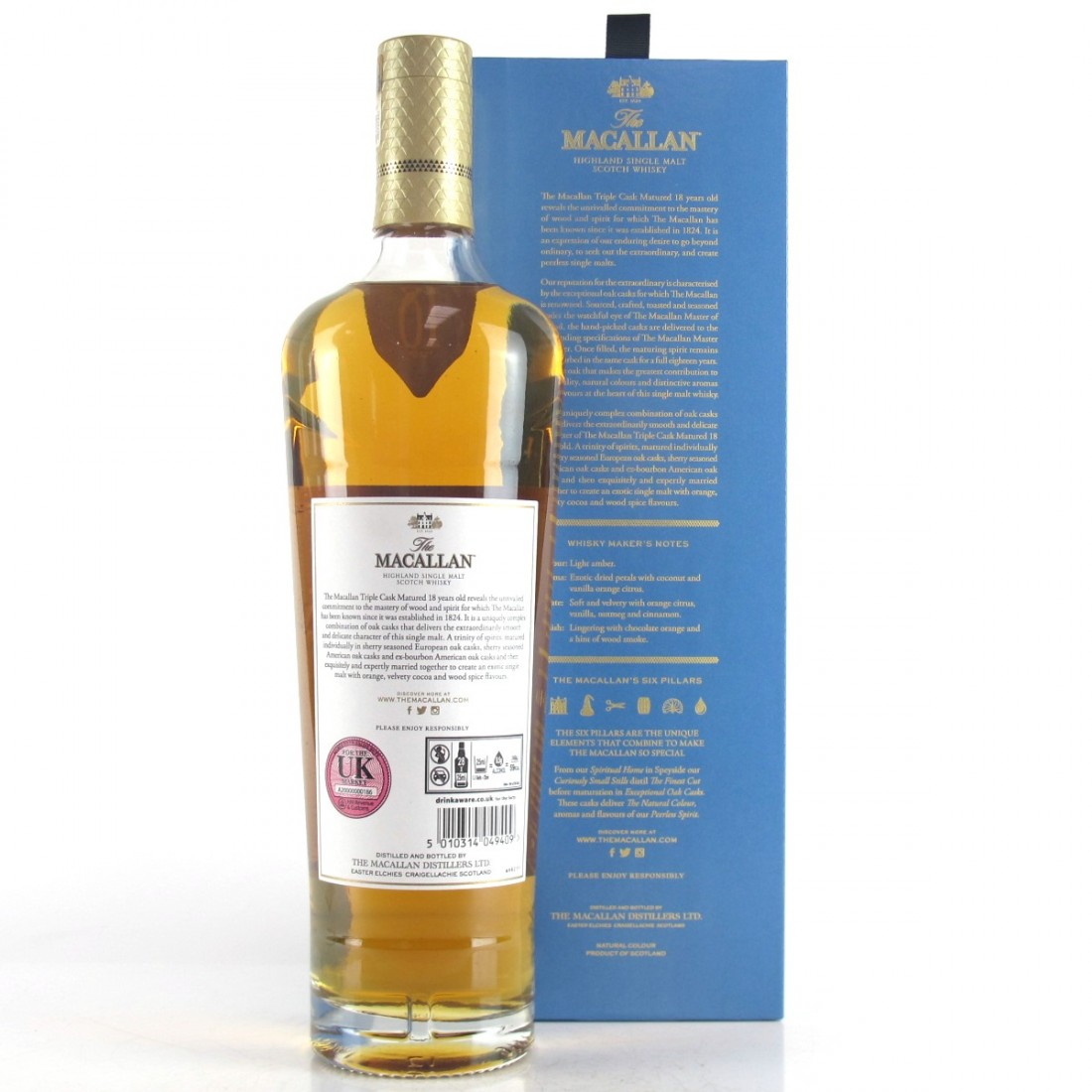 Macallan 18 Year Old Triple Cask Matured / 2018 Release