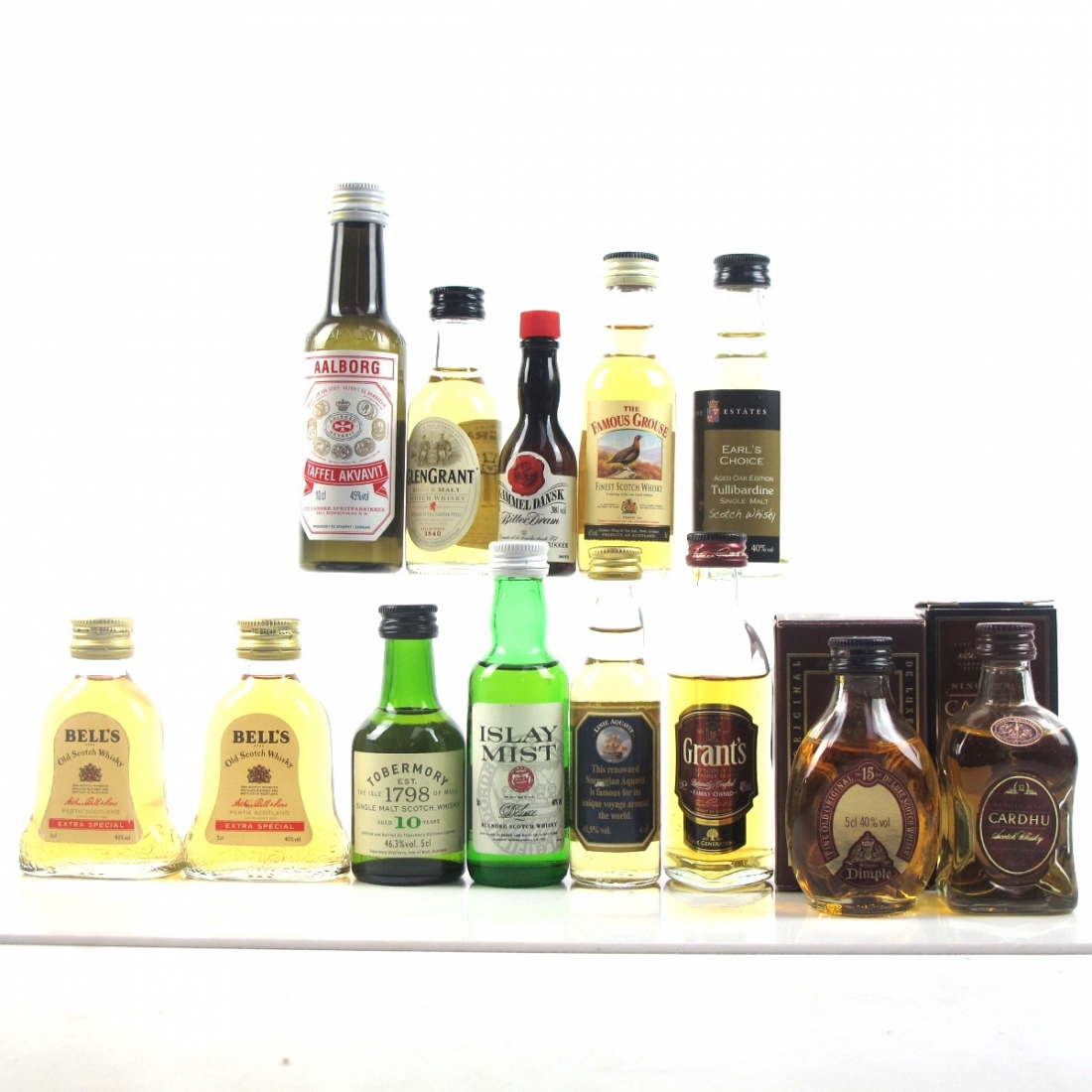 Miscellaneous Spirits Selection Miniatures 13 x 5cl / Including Tobermory 10 Year Old