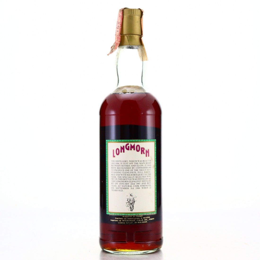Longmorn 1965 Intertrade 21 Year Old Cask Strength