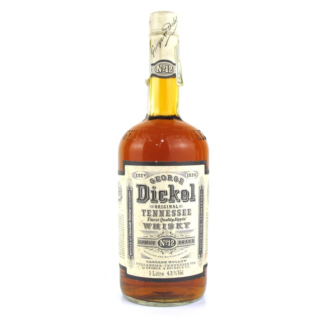 George Dickel Old No.12 Brand 1 Litre 1990s