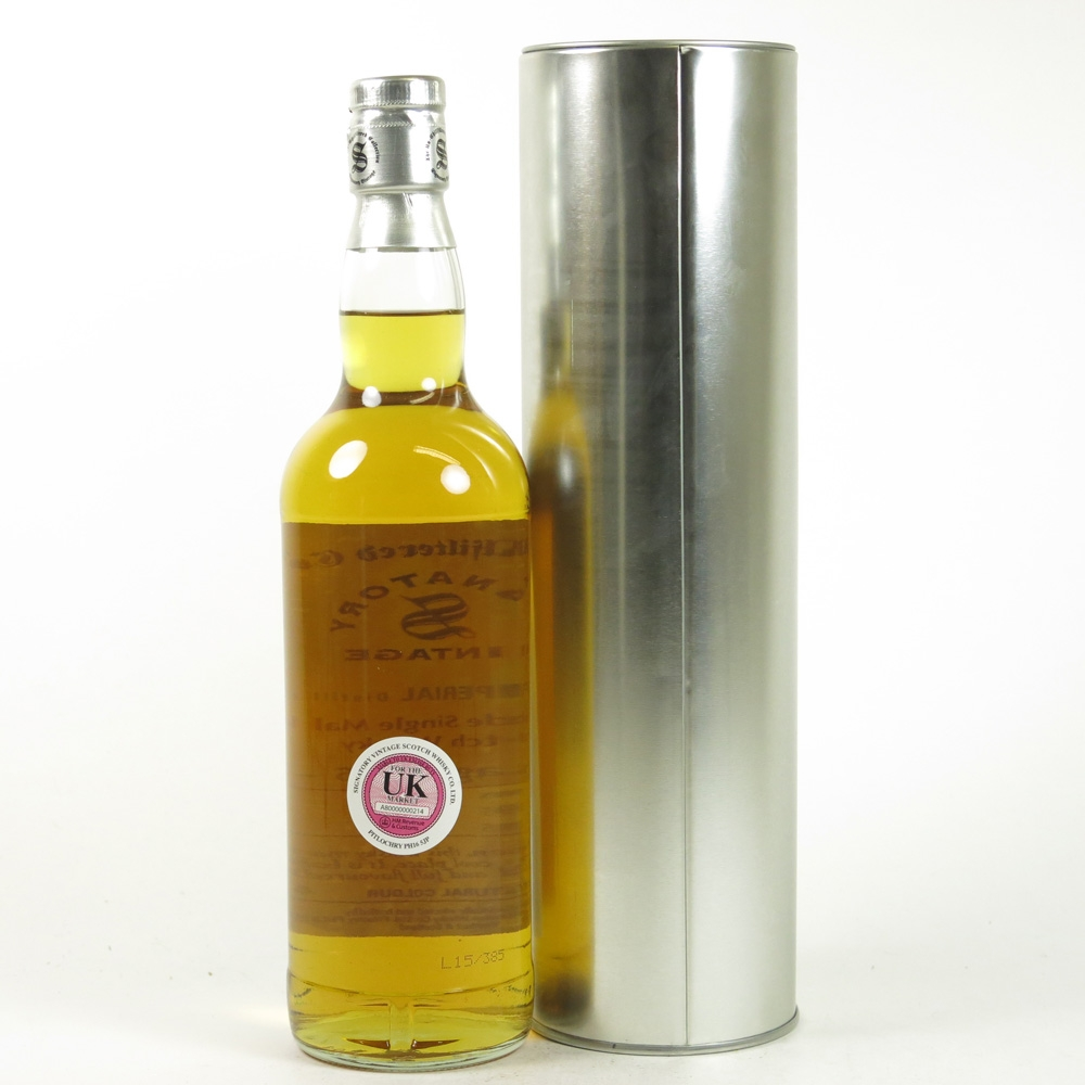 Imperial 1995 Signatory Vintage 19 Year Old Back
