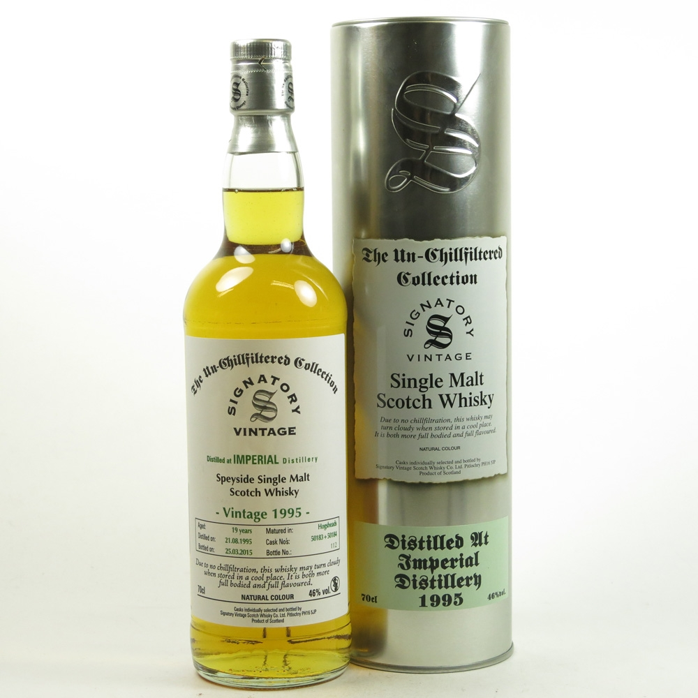 Imperial 1995 Signatory Vintage 19 Year Old Front