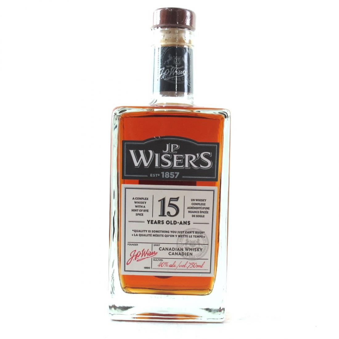 J.P. Wiser's 15 Year Old Canadian Whisky