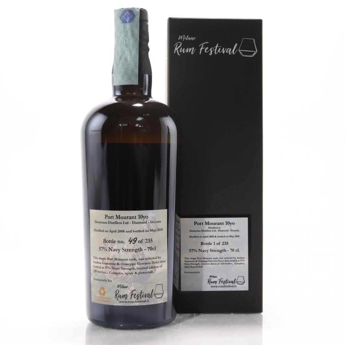 Port Mourant 2008 Single Cask 10 Year Old / Milan Rum Festival 2018