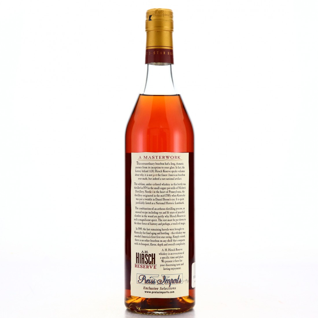 A.H. Hirsch Reserve 1974 16 Year Old Bourbon / 2003 Release