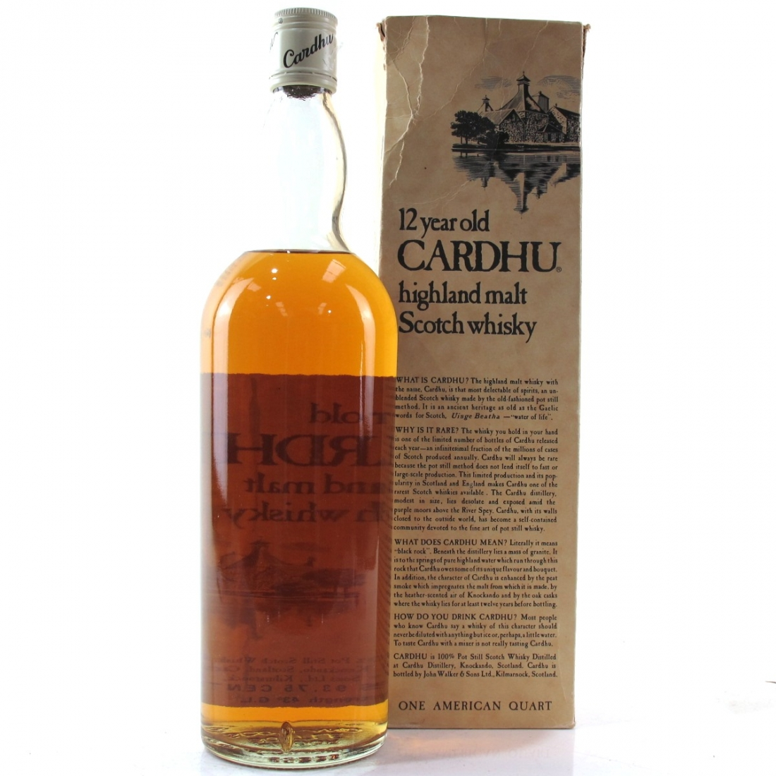 Cardhu 12 Year Old 1 Quart 1970/80s US Import