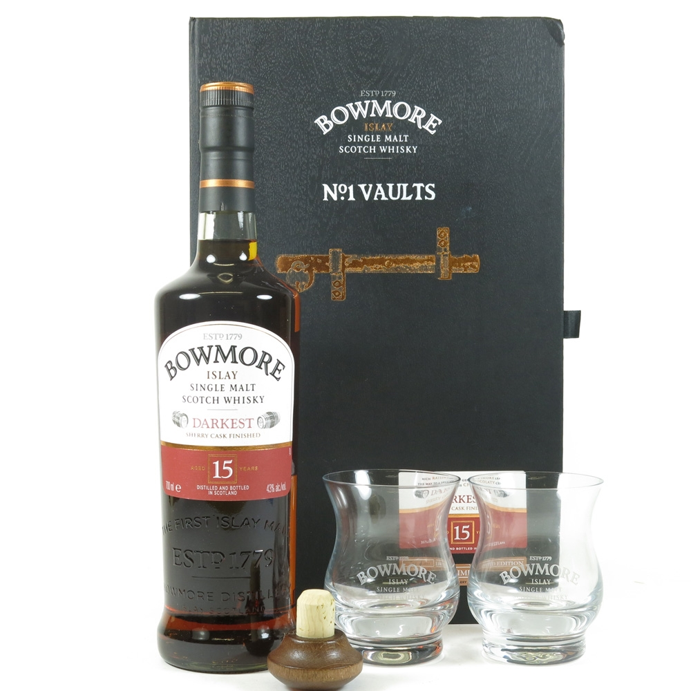 Bowmore 15 Year Old Darkest Gift Pack Front