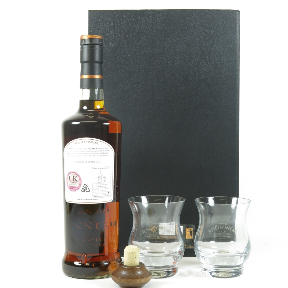 Bowmore 15 Year Old Darkest Gift Pack Back