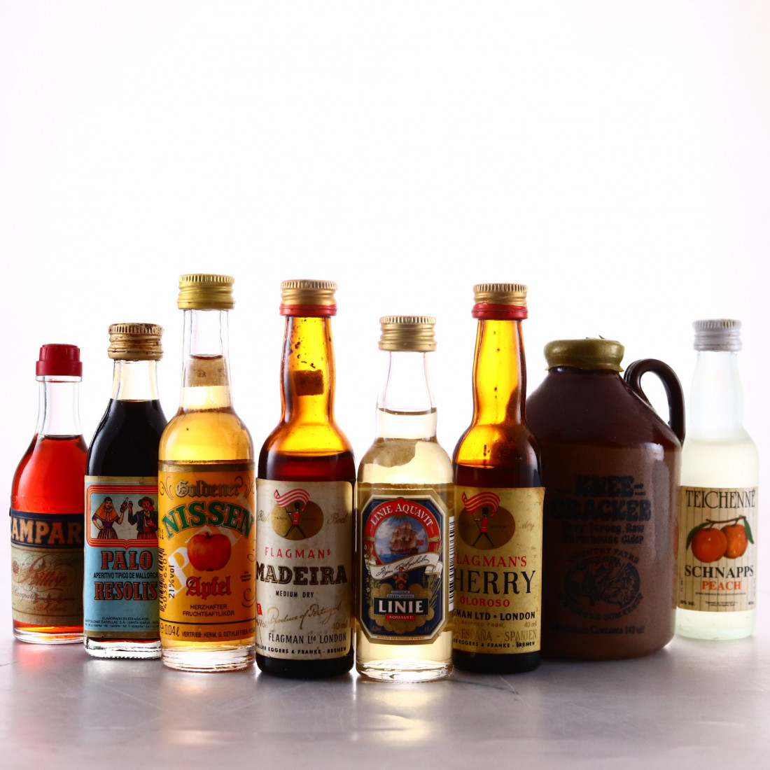 Liqueur, Sherry and Vintage Cider Miniatures x 8