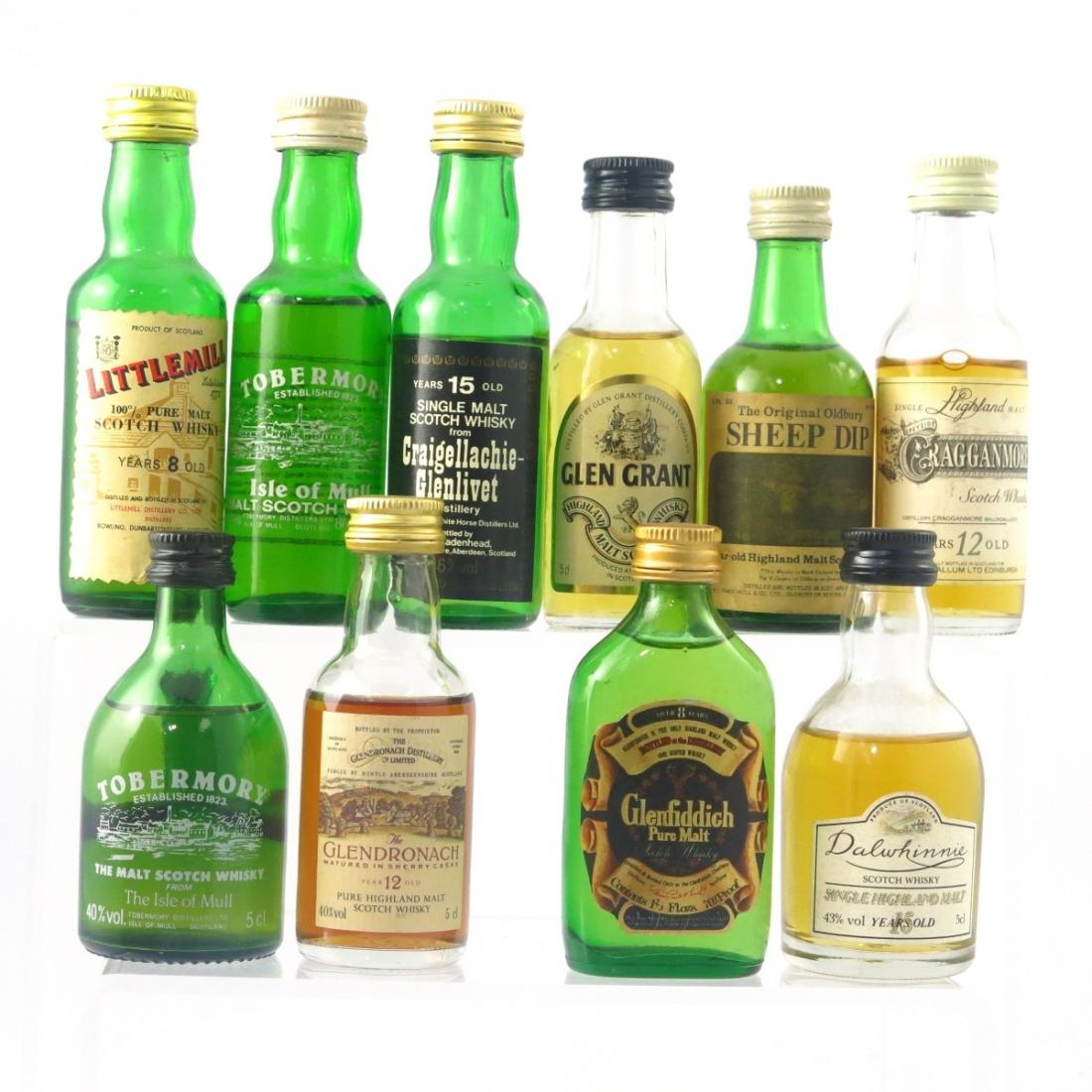 Scotch Malt Whisky Selection 10 x Miniature