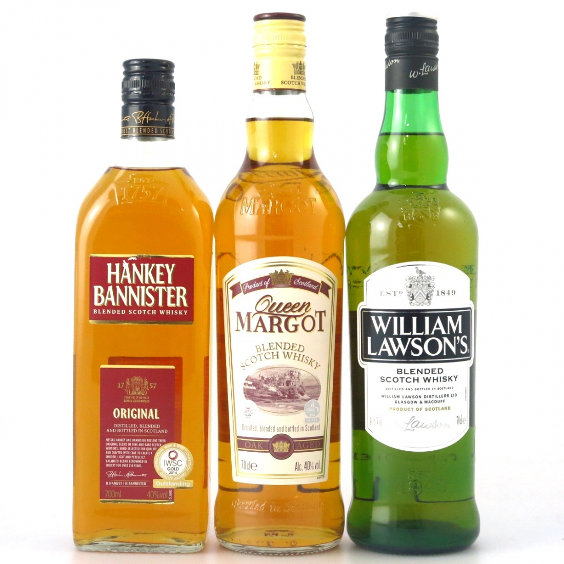 Scotch Whisky Selection 3 x 70cl