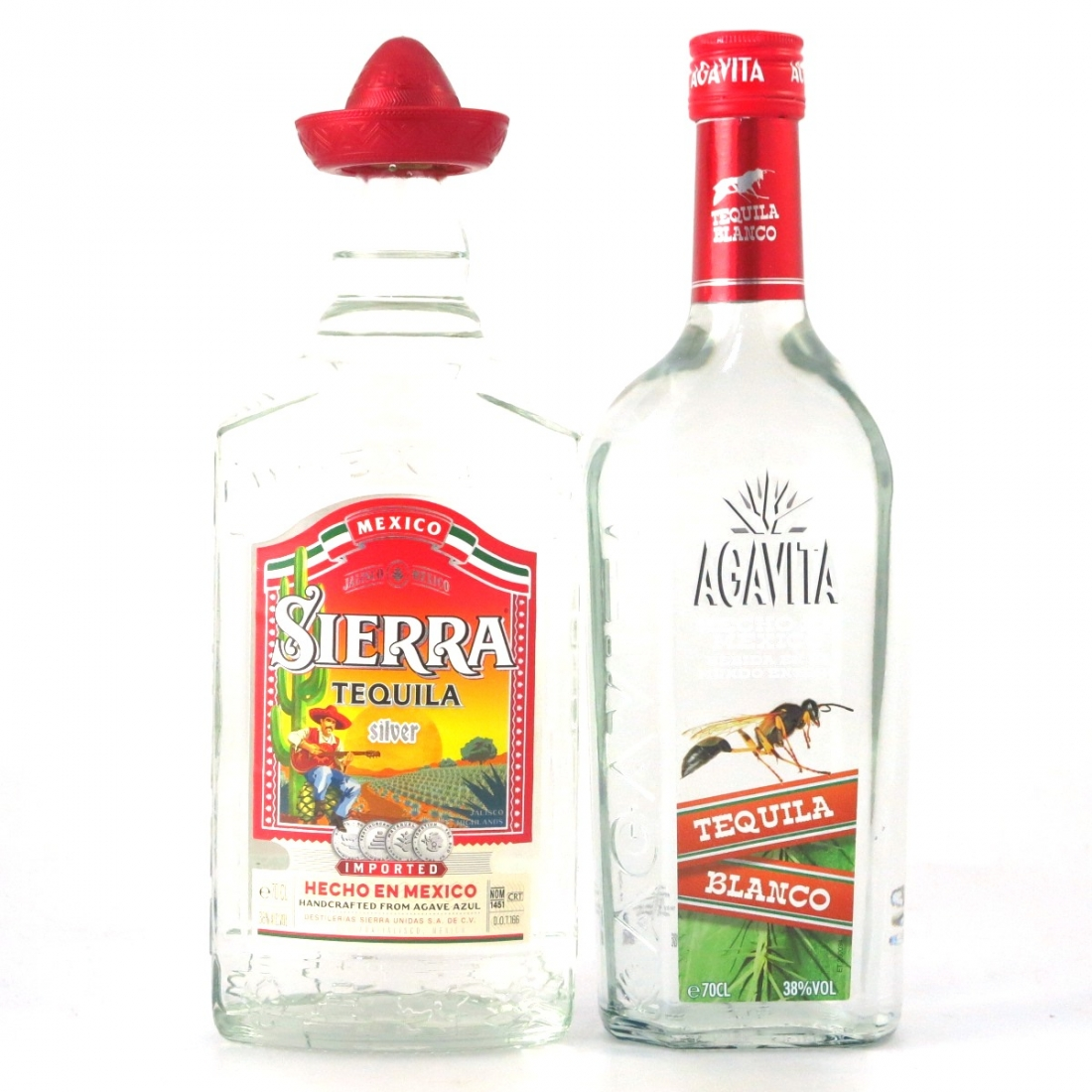 Miscellaneous Tequila Selection 2 x 70cl