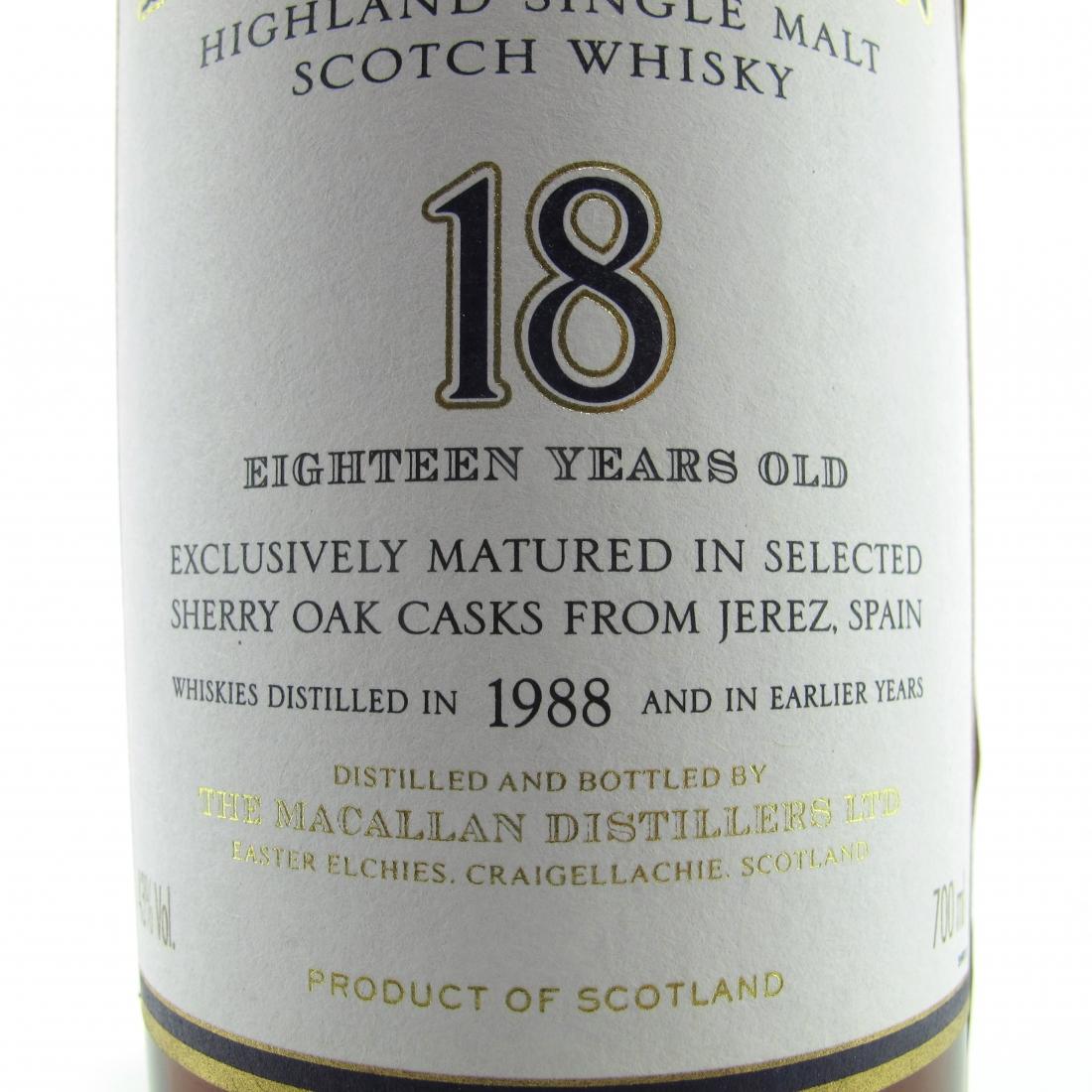 Macallan 1988 18 Year Old