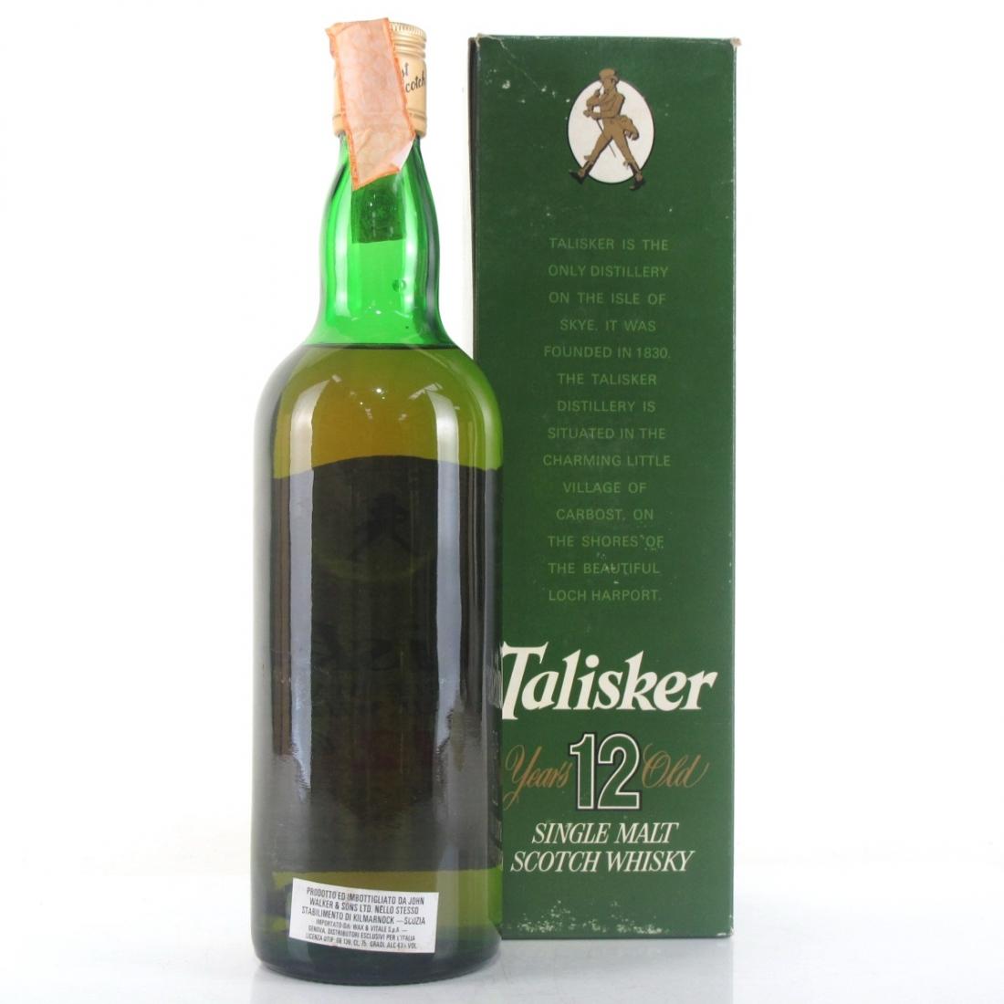 Talisker 12 Year Old 1980s