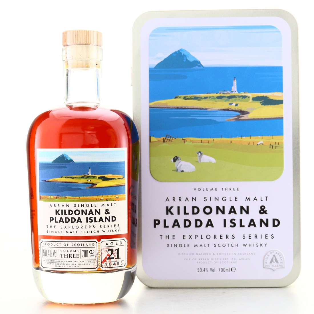 Arran 21 Year Old The Explorers Series Volume 3 / Kildonan and Pladda Island
