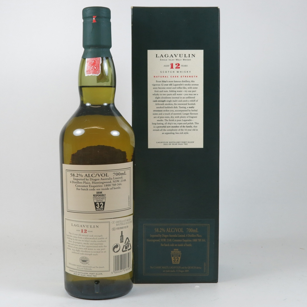 Lagavulin 12 Year Old 2004 Release back