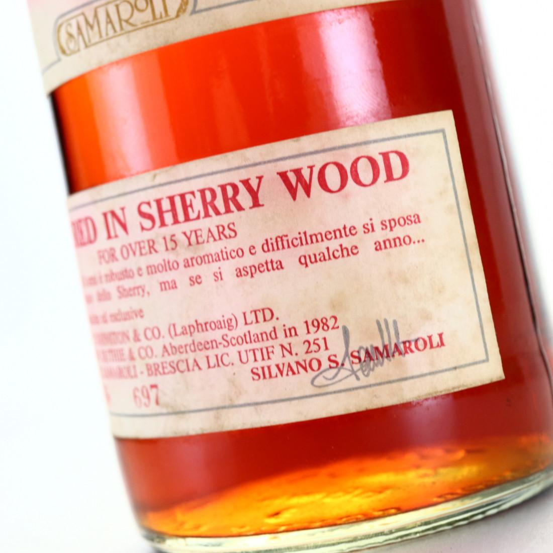 Laphroaig 1967 Samaroli 15 Year Old Sherry Wood / Silver Cap