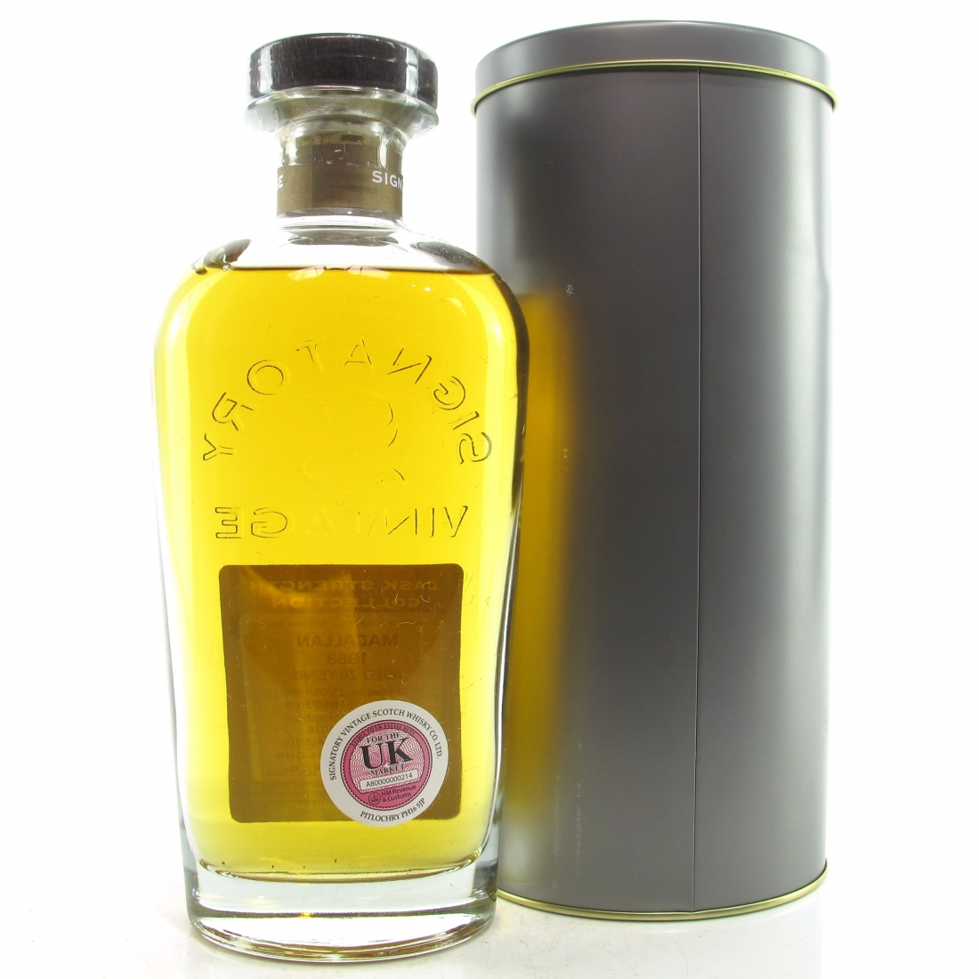 Macallan 1988 Signatory Vintage 20 Year Old Cask Strength