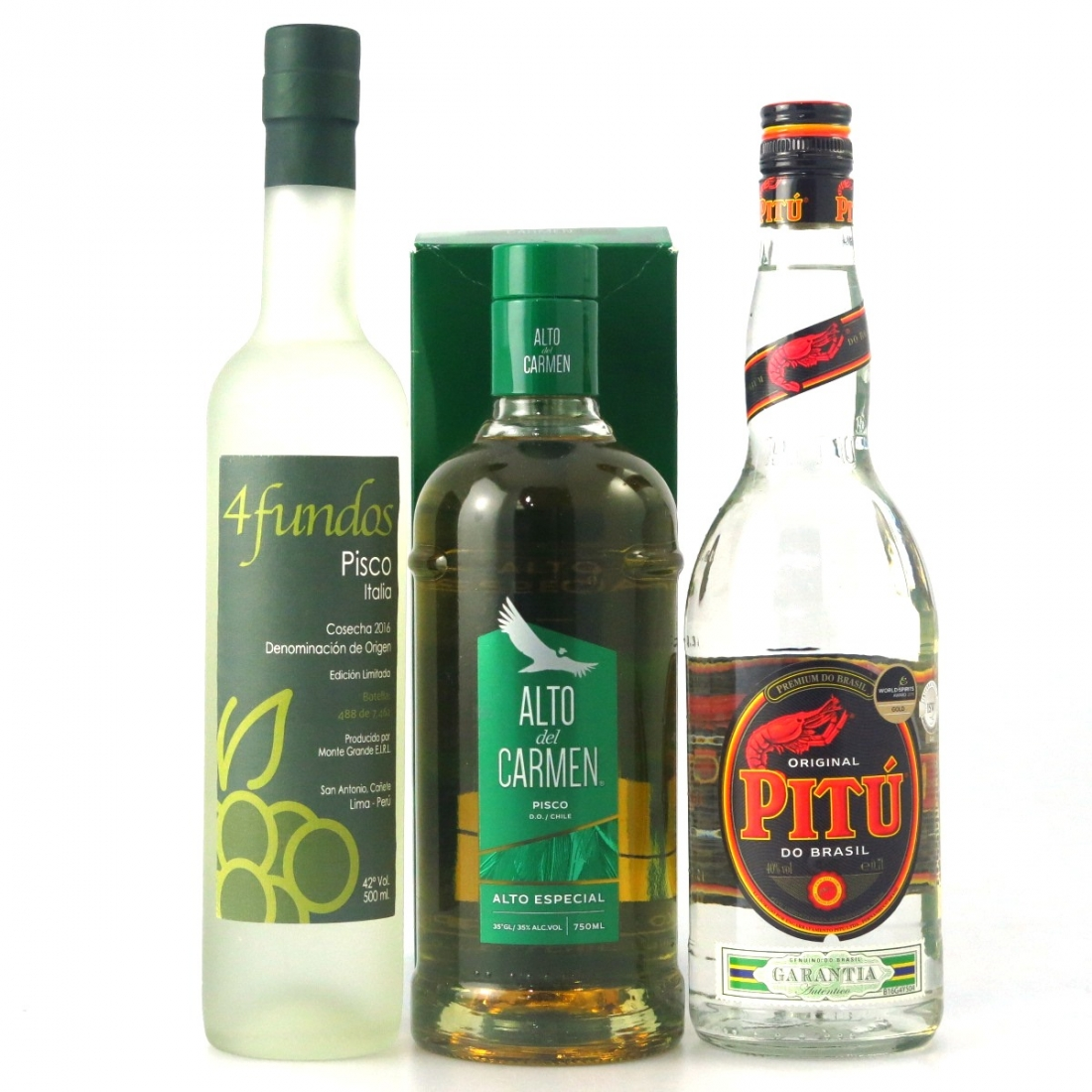 South American Pitu / Pisco Selection x 3