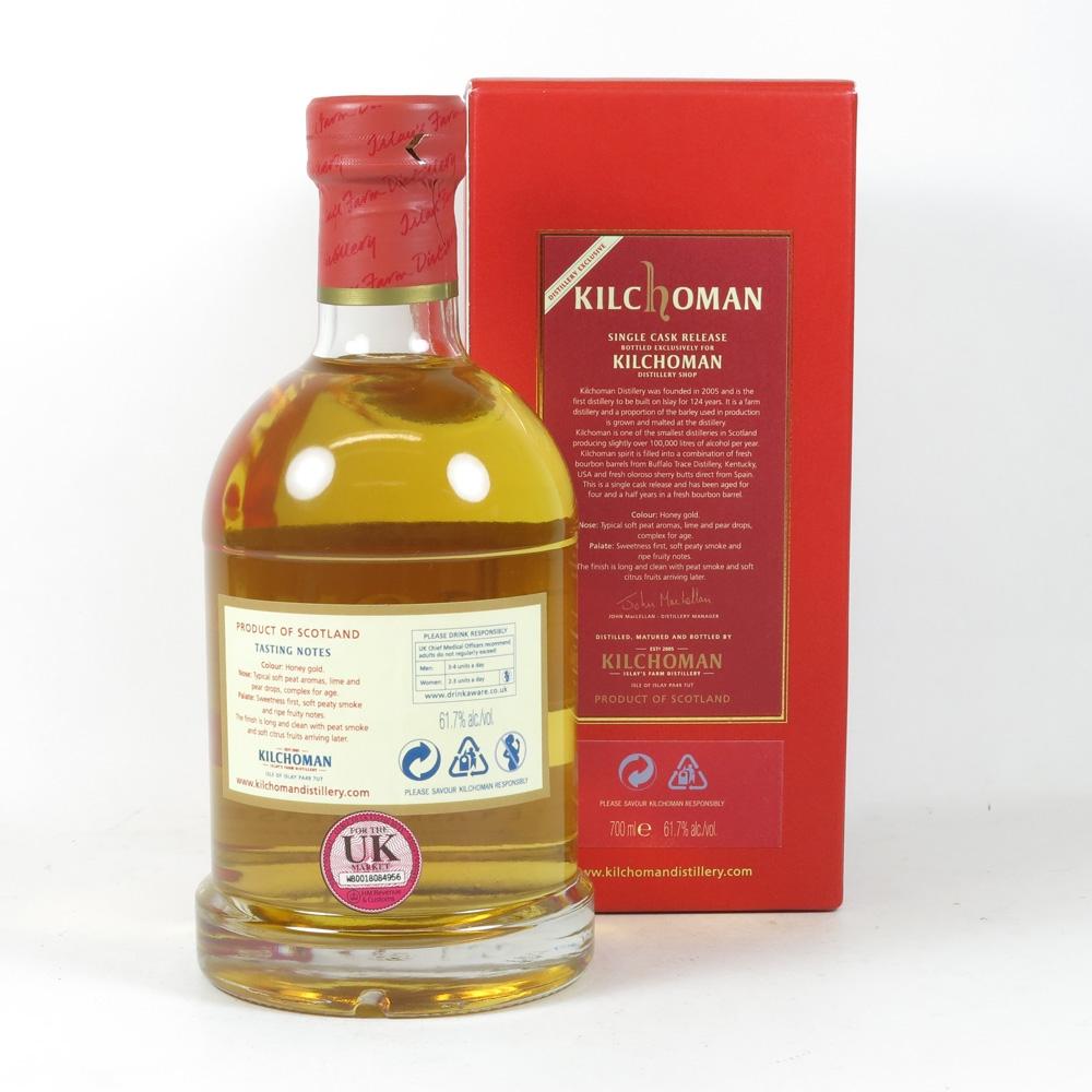 Kilchoman 2007 Single Cask Distillery Exclusive Back