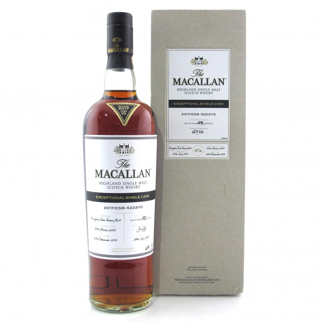 Macallan 2005 Exceptional Cask #5223-10