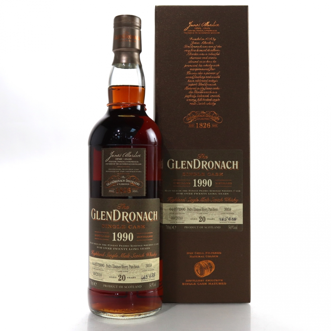 Glendronach 1990 Single Cask 20 Year Old #3059