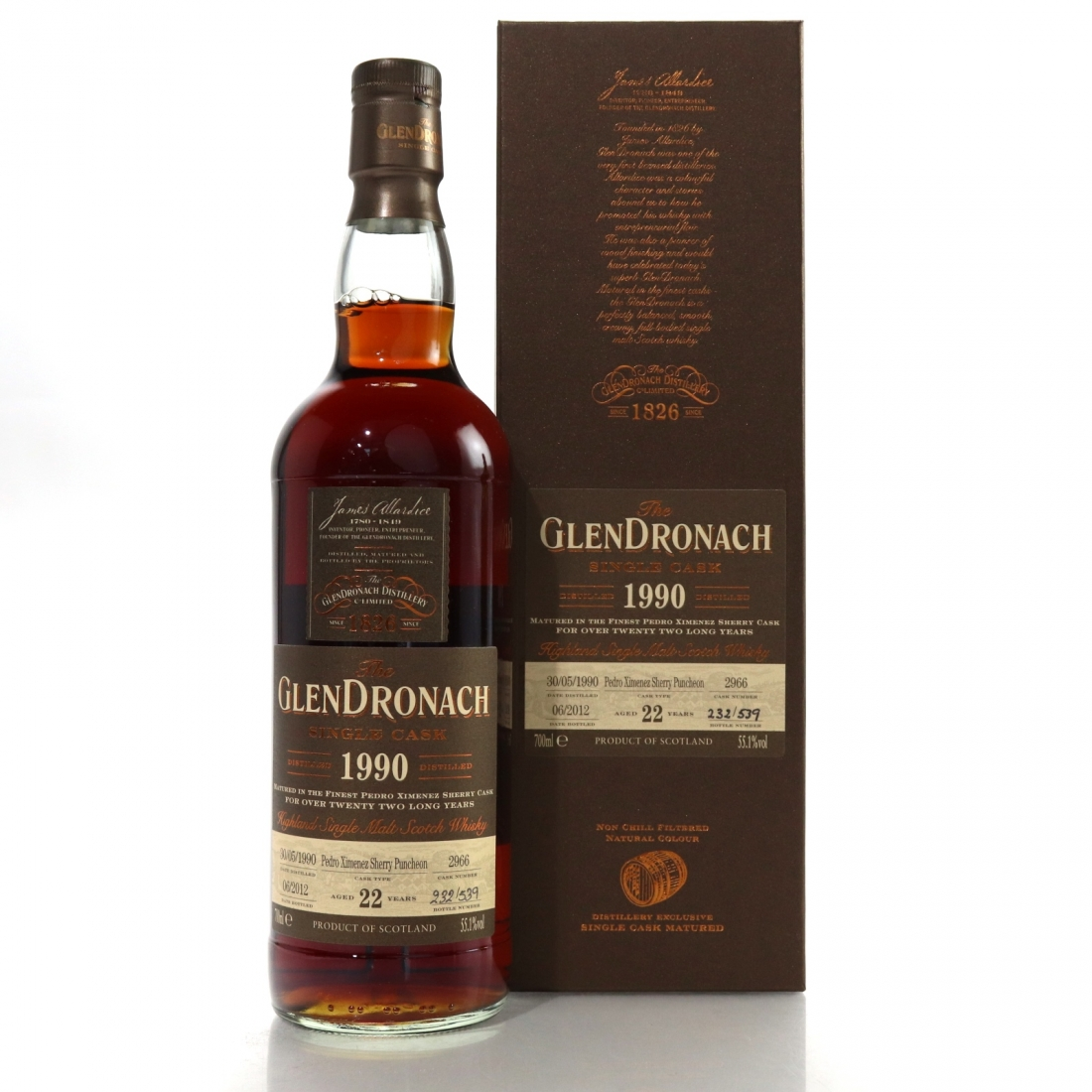 Glendronach 1990 Single Cask 22 Year Old #2966