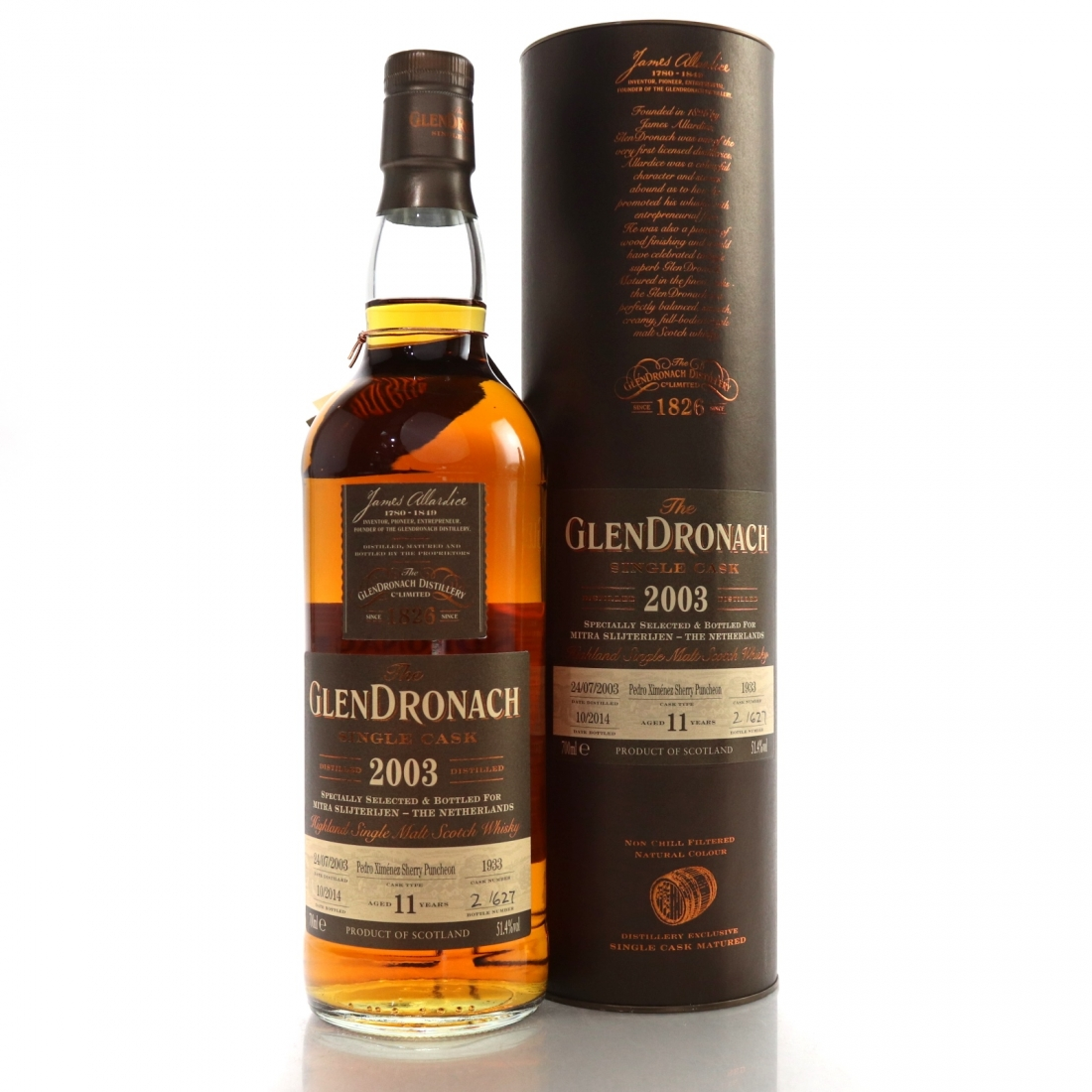 Glendronach 2003 Single Cask 11 Year Old #1933 / Mitra Slijterijen