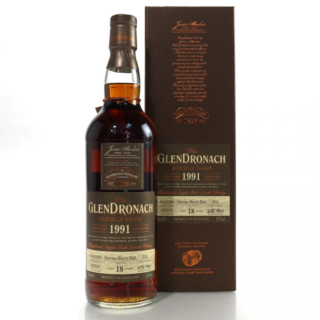 Glendronach 1991 Single Cask 18 Year Old #2512