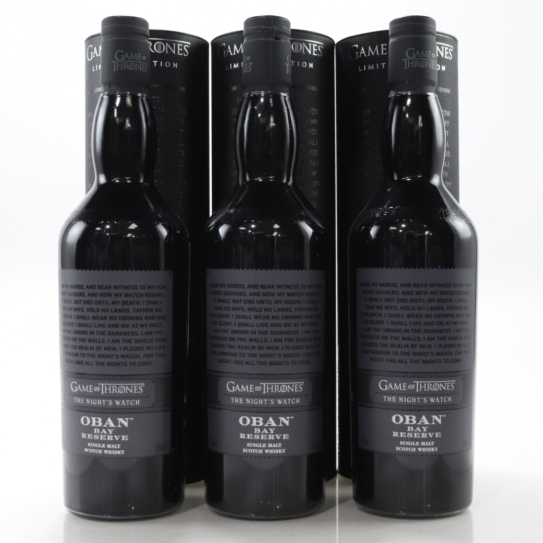 Oban Bay Reserve / The Night's Watch 3 x 70cl