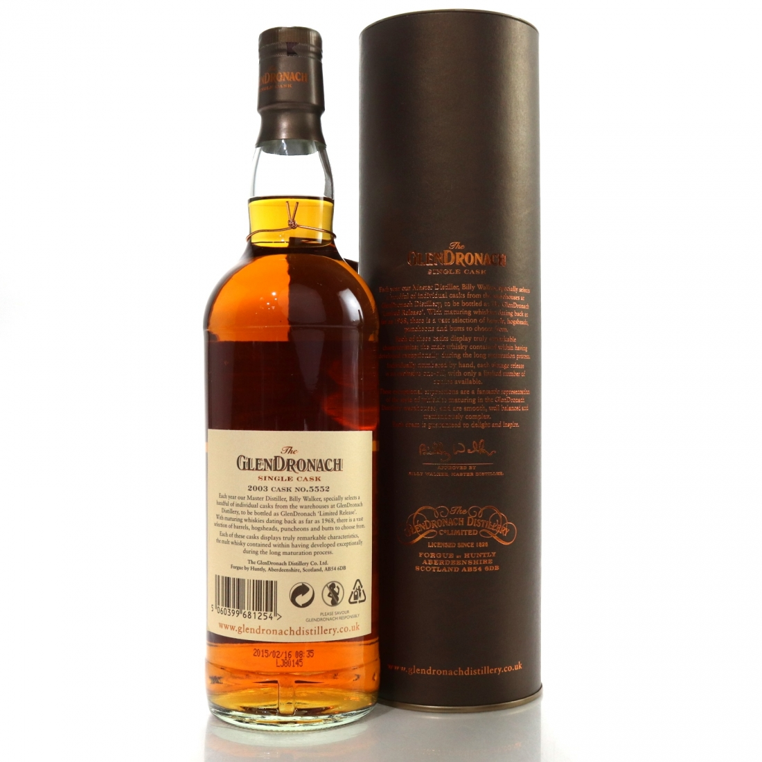 Glendronach 2003 Single Cask 11 Year Old #5552 / The Old Pipe