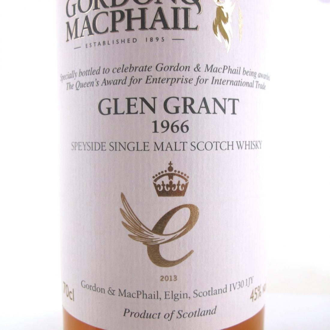 Glen Grant 1966 Gordon and MacPhaill / Queen's Award for Enterprise