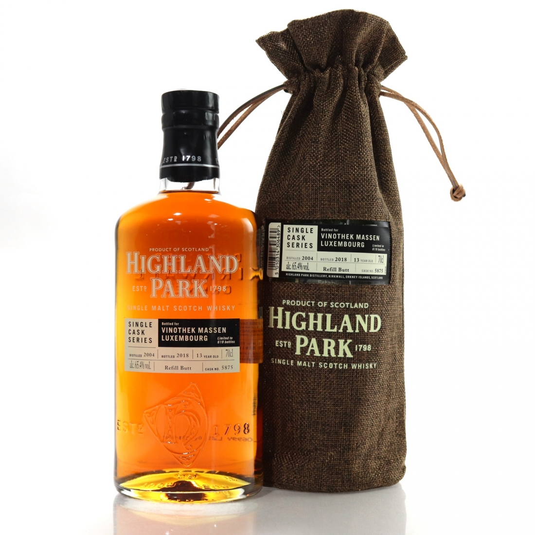 Highland Park 2004 Single Cask 13 Year Old #5875 / Vinothek Massen Luxembourg